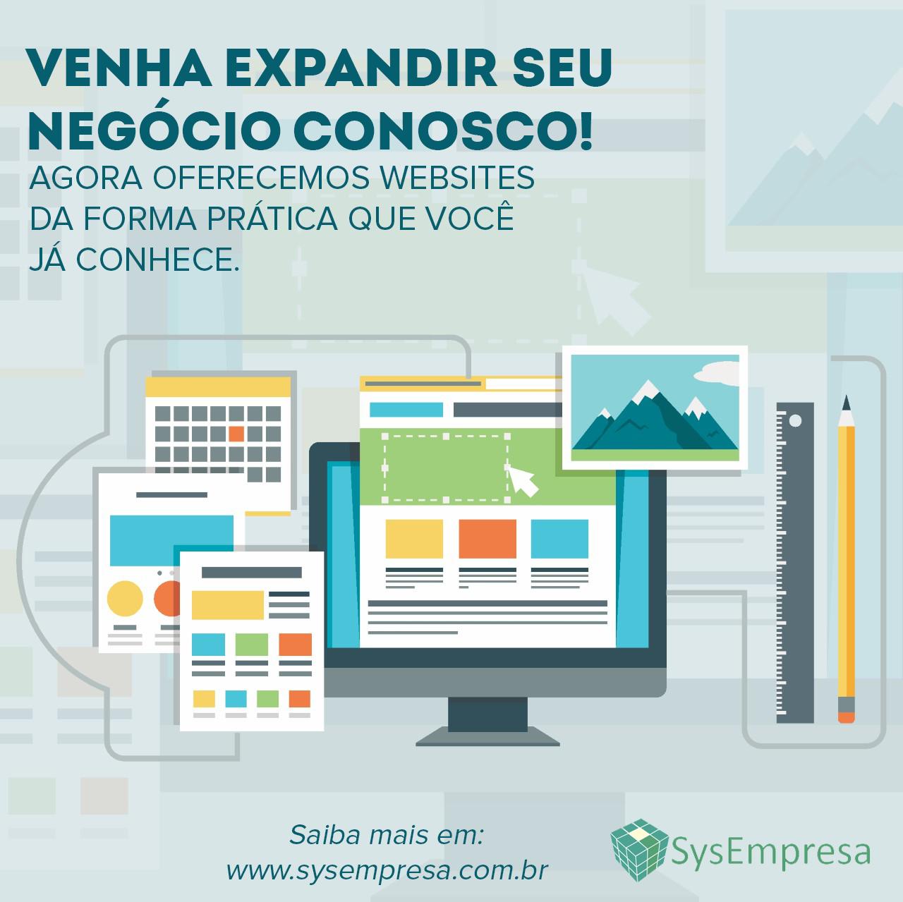 Conheça nosso novo serviço - Websites